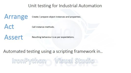 Unit testing for Industrial Automation software development